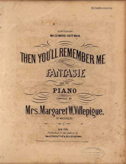 Sheet Music - Then you'll remember me fantasie