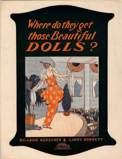 Sheet Music - Where do they get those beautiful dolls?