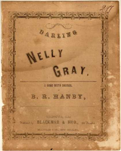 Sheet Music - Darling Nelly Gray