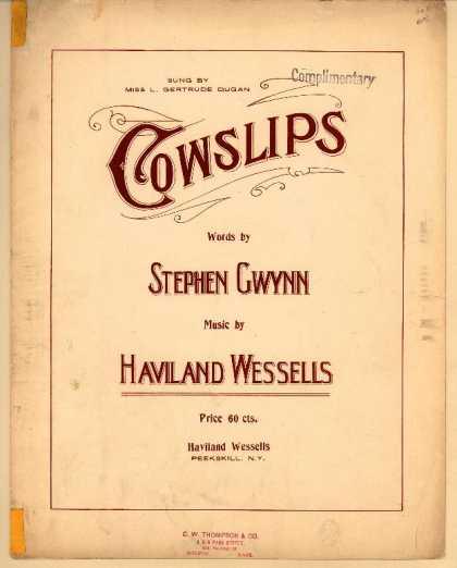 Sheet Music - Cowslips