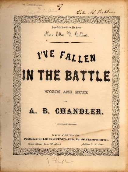 Sheet Music - I've fallen in the battle