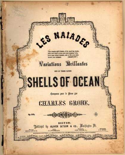 Sheet Music - Shells of ocean; Les naiades; Op. 384