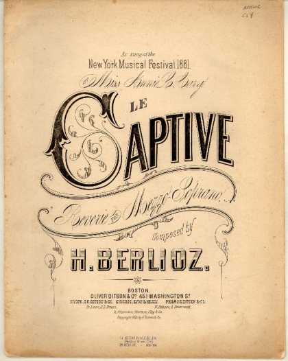 Sheet Music - Captive; Reverie for mezzo-soprano