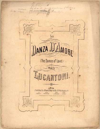 Sheet Music - La danza d'amore; The dance of love