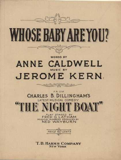 Sheet Music - Whose baby are you?