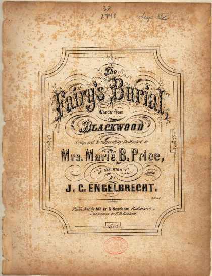 Sheet Music - Fairy's burial