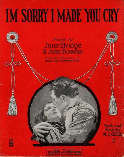 Sheet Music - I'm sorry I made you cry