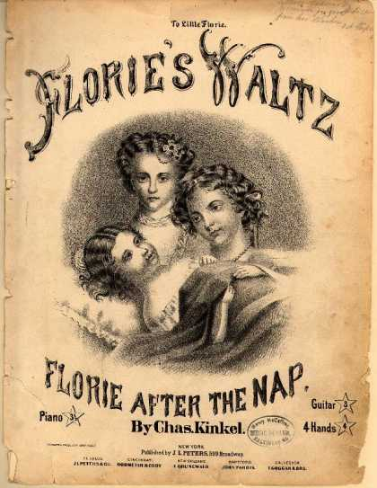 Sheet Music - Florie's waltz; Florie after the nap