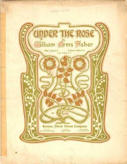 Sheet Music - Under the rose; Op. 8, no. 1