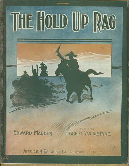 Sheet Music - The hold up rag