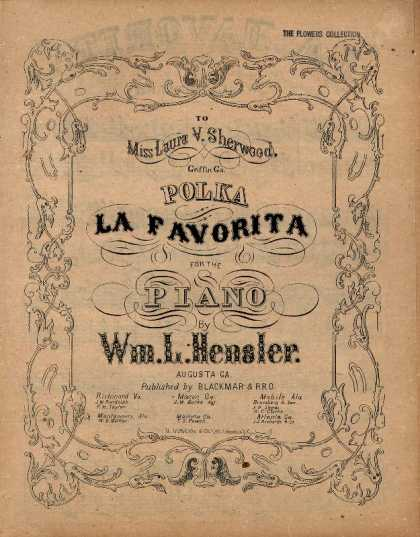 Sheet Music - Polka La favorita; La favorita