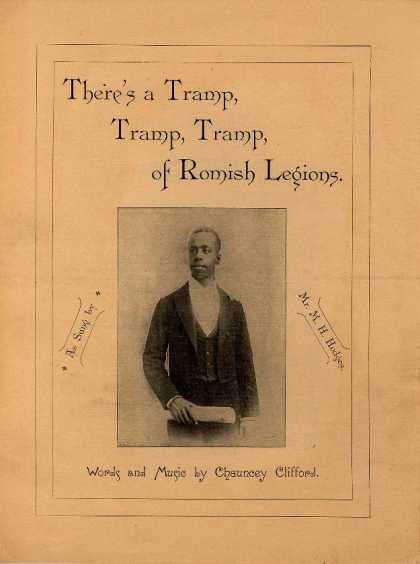 Sheet Music - There's a tramp, tramp, tramp, of Romish legions