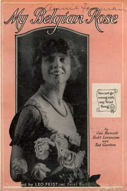 Sheet Music - My Belgian rose
