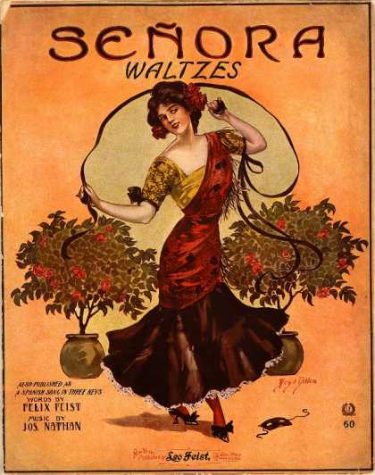 Sheet Music - Senora waltzes; Spanish waltz