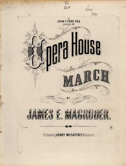 Sheet Music - Opera house march