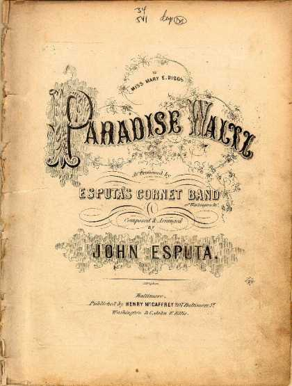 Sheet Music - Paradise waltz