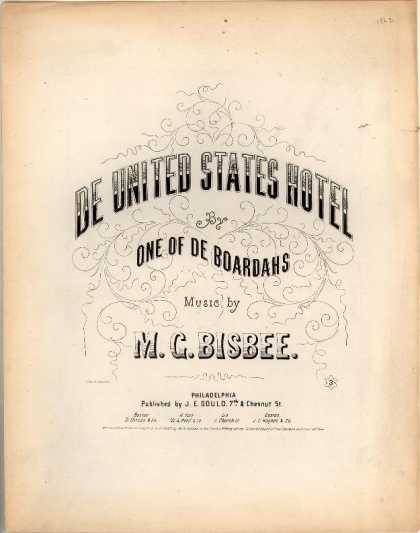 Sheet Music - De United States Hotel