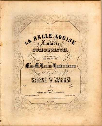 Sheet Music - La belle Louise; Fantasie schottisch; Op. 12