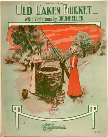 Sheet Music - Old oaken bucket with variations; Op. 93