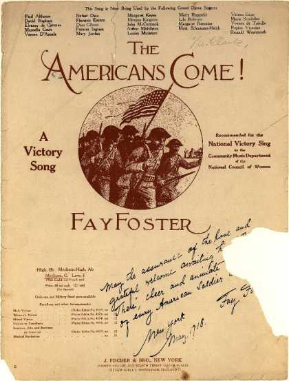 Sheet Music - The Americans come