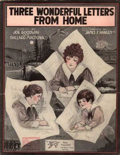 Sheet Music - Three wonderful letters from home