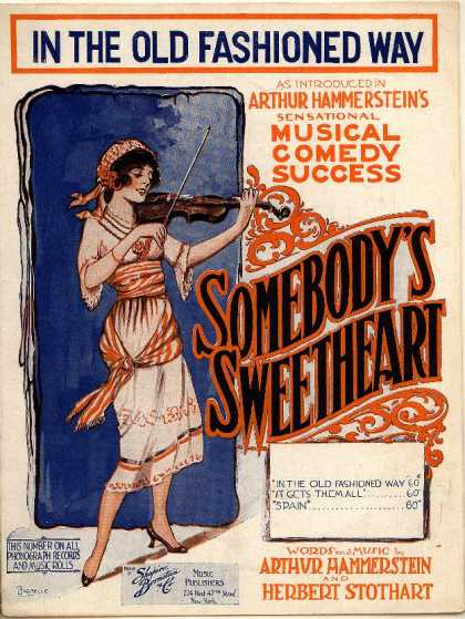 Sheet Music - In the old fashioned way; Somebody's sweetheart