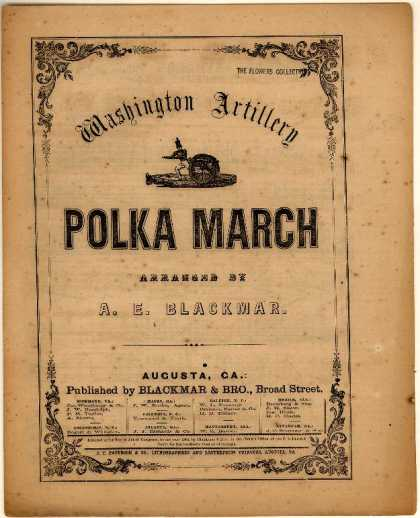 Sheet Music - Washington artillery polka march