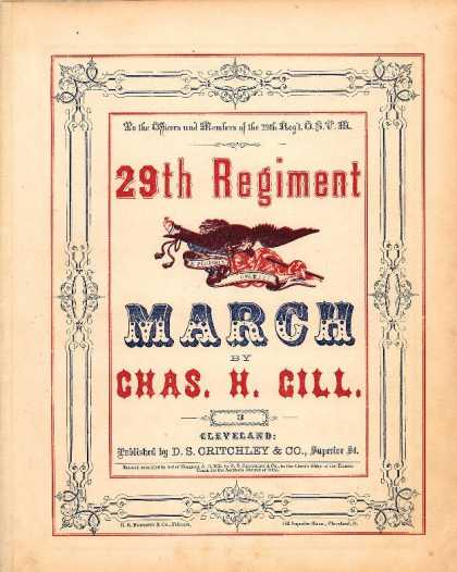 Sheet Music - 29th regiment march