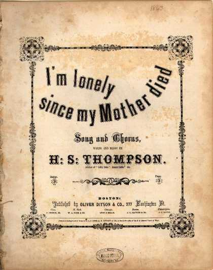 Sheet Music - I'm lonely since my mother died