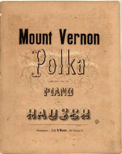 Sheet Music - Mount Vernon polka