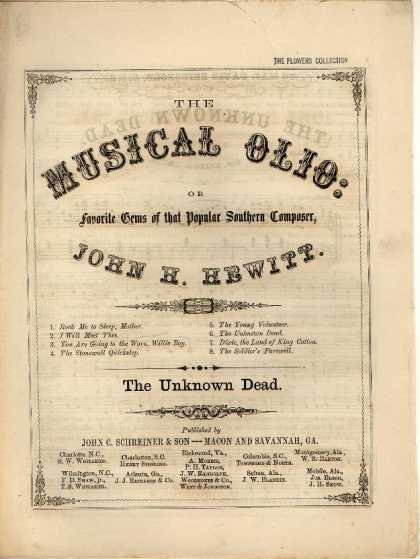 Sheet Music - The unknown dead