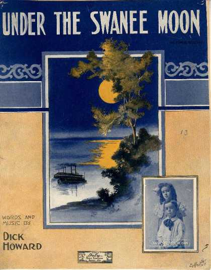 Sheet Music - Under the Swanee moon