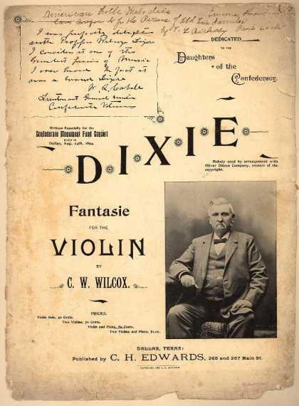 Sheet Music - Dixie fantasie