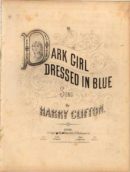Sheet Music - Dark girl dressed in blue