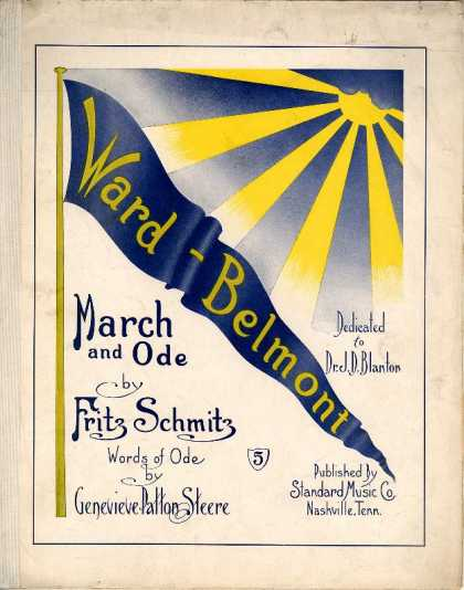Sheet Music - War-Belmont march and ode
