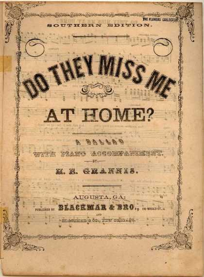 Sheet Music - Do they miss me at home?