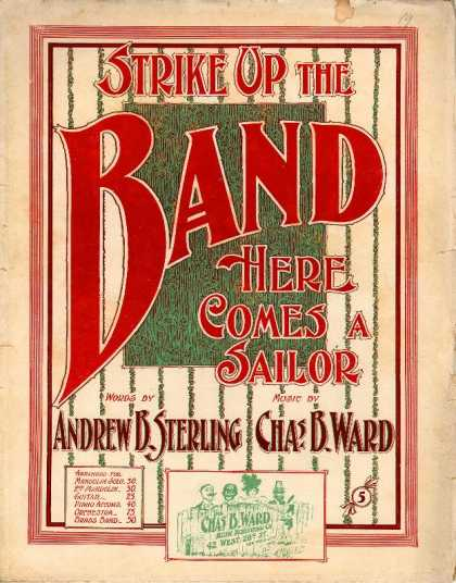 Sheet Music - Strike up the band here comes a sailor
