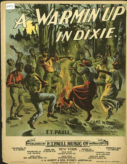 Sheet Music - A warmin' up in Dixie