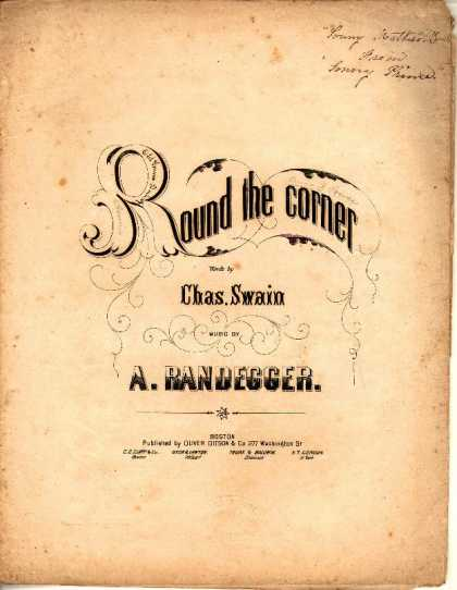Sheet Music - Round the corner