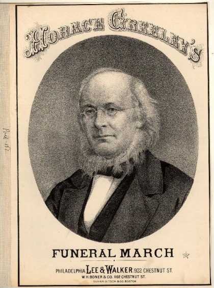 Sheet Music - Horace Greeley's funeral march
