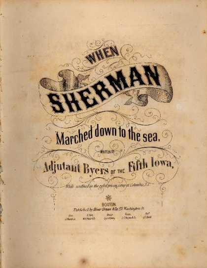 Sheet Music - When Sherman marched down to the sea