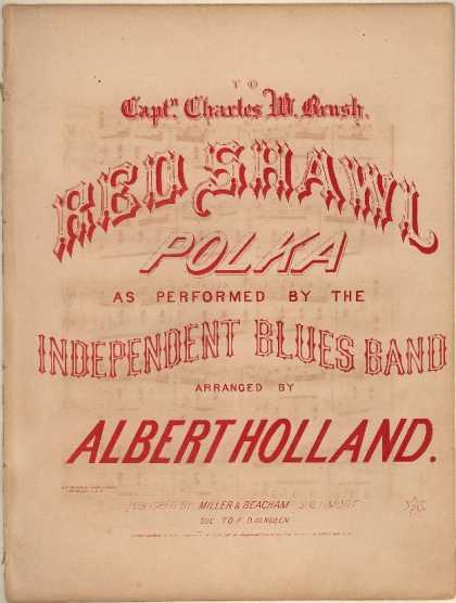 Sheet Music - Red shawl polka