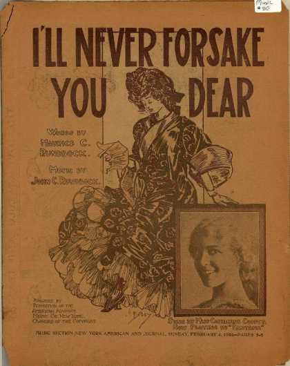 Sheet Music - I'll never forsake you, dear