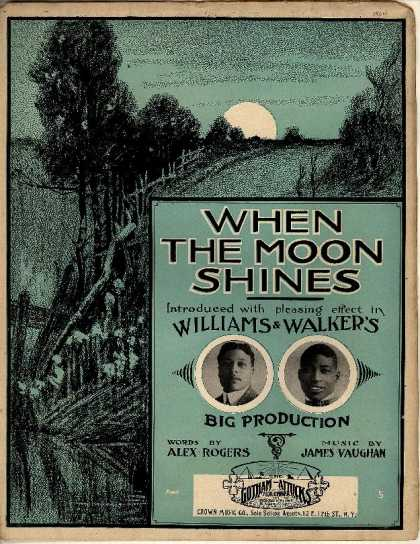 Sheet Music - When the moon shines