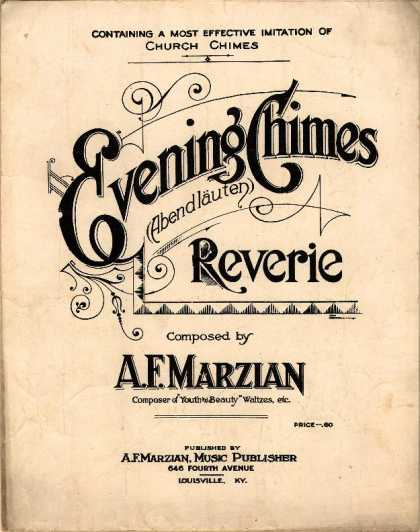 Sheet Music - Evening chimes; Abendlauten; Reverie