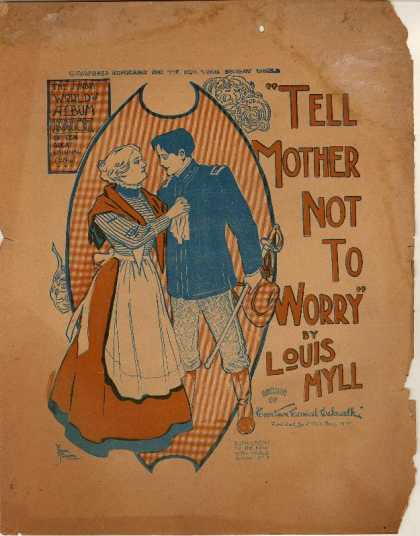 Sheet Music - Tell mother not to worry