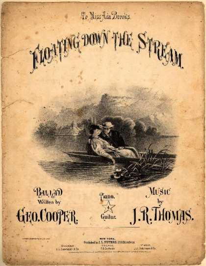 Sheet Music - Floating down the stream