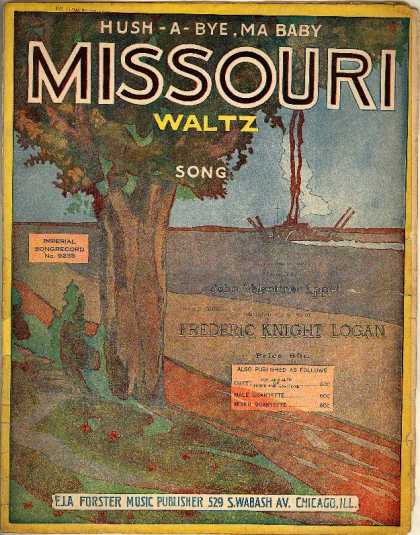 Sheet Music - Hush-a-bye, ma baby; Missouri waltz