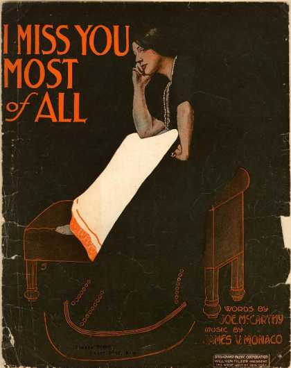 Sheet Music - I miss you most of all