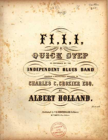 Sheet Music - Fi, I, I quick step